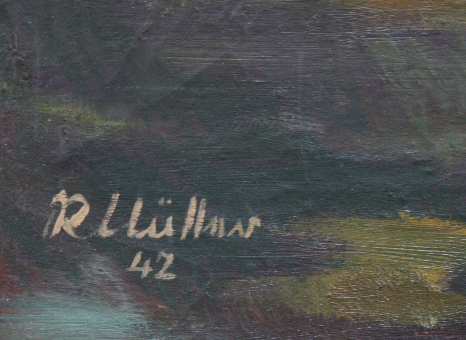 rolf m ller landau lgem lde signiert expressionismus pfalz 60 x 73 cm ebay. Black Bedroom Furniture Sets. Home Design Ideas